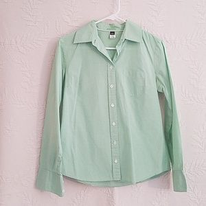 J. Crew Gingham Slim Fit Button up blouse